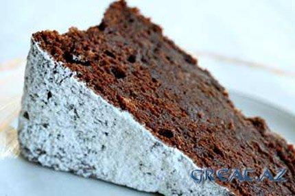 Рецепт: Горько-сладкий шоколадный торт...