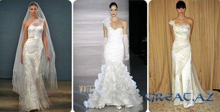 Свадебные платья 2009 - тенденции, стиль, фасон, цвет.
