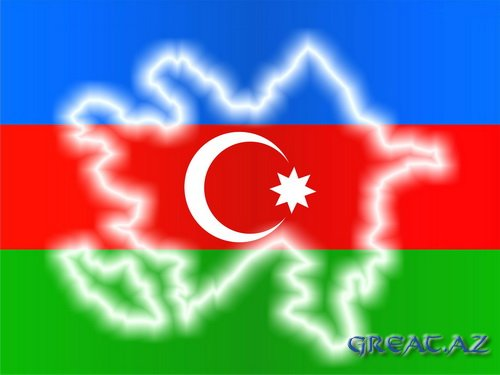 азербайджанский флаг фото