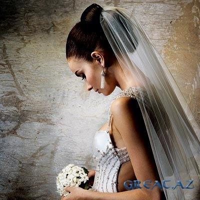 свадебные прически на средние волосы фото с фатой.