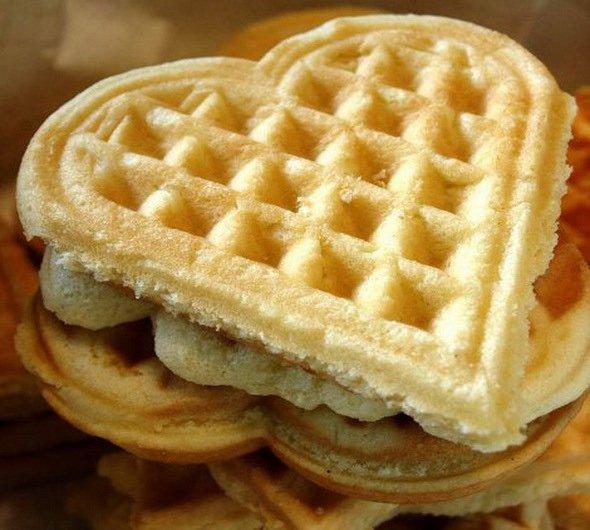 Печенье сердечки вафельные рецепт с фото