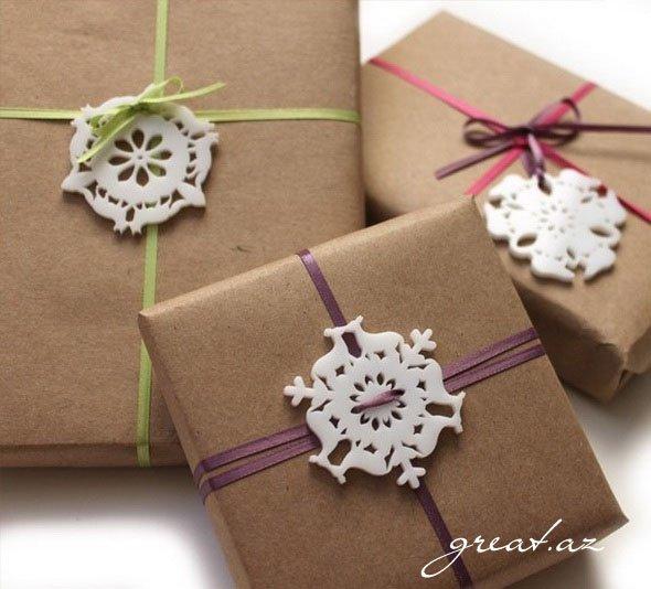 Оформление подарков на нов год