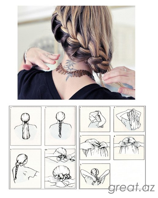 Схемы плетения косичек