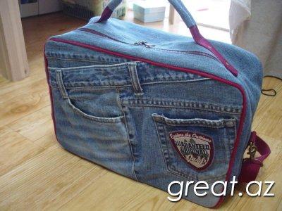 как сделать рюкзак своими руками из джинсов #3