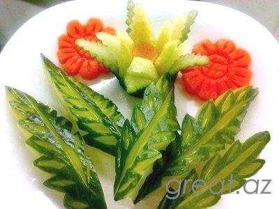 Как сделать украшения для салатов