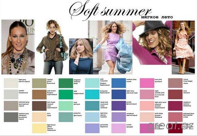 Цветотип внешности полезные таблички