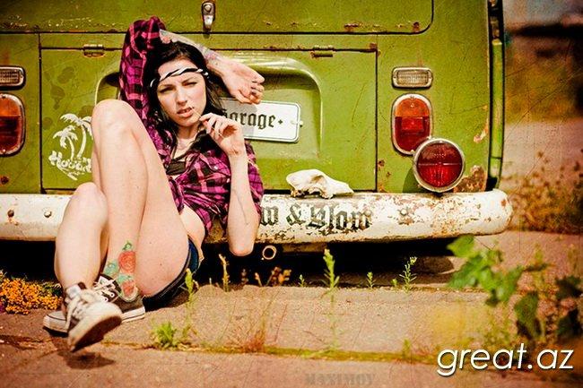 Gözəl Tatuirovkalı qızlar (29 Foto)