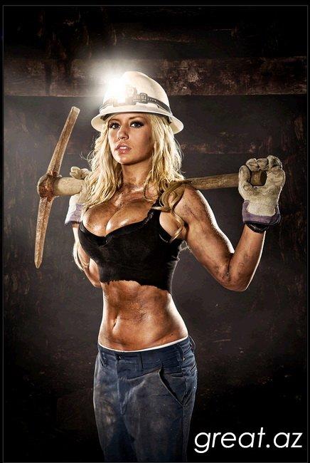 С днём шахтёра девушку