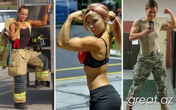 Прокаченные и сексуальные девушки с мужскими профессиями (24 фото)