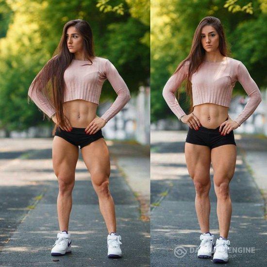 Фитнес-фанатка накачала себе стальную задницу