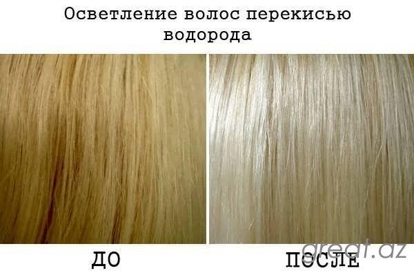 Necə saçları peroksidlə ağartmaq olar