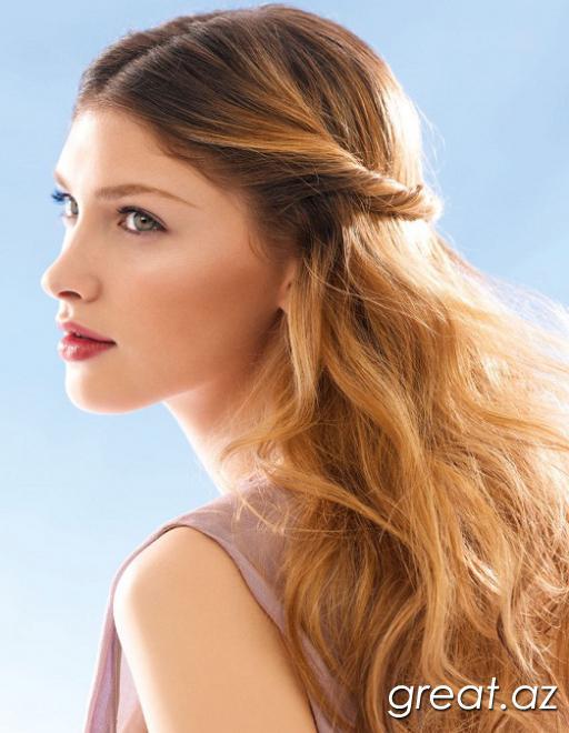 Dəniz stilində saç düzümlərinin variantları