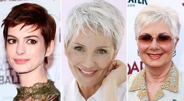 Orta saçlarla yumru üz üçün saç düzümləri