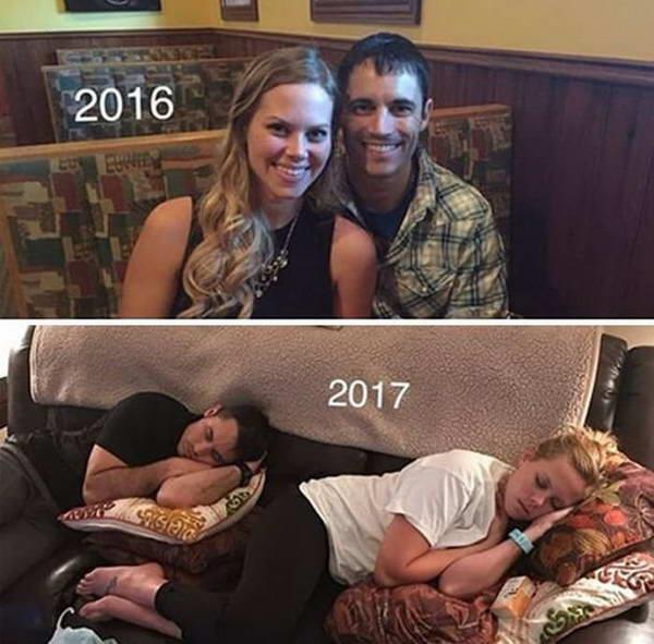 Onların uşaqlarının doğuluşuna qədər və sonra valideynlərin həyatı