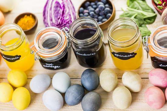 Как приготовить натуральные красители для яиц